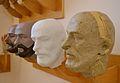 Procés de fabricació d'una falla, cap masculí, Museu Faller de València.JPG