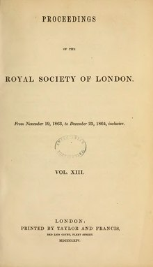 Proceedings of the Royal Society of London Vol 13.djvu
