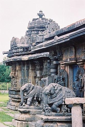 Bucesvara Temple, Koravangala - Elephant baluster at the Bucesvara temple
