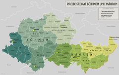 Mapa Protektoratu Czech i Moraw