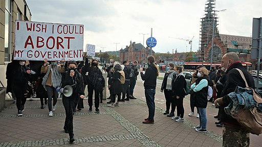 Protest in Gdansk against Poland's new abortion laws 24.10.2020