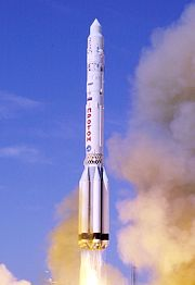 Proton Rocket heading for space