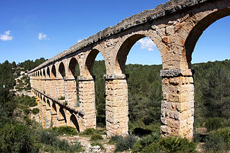Tarraco - Roman aqueduct known as El Pont del Diable (The devil's bridge).
