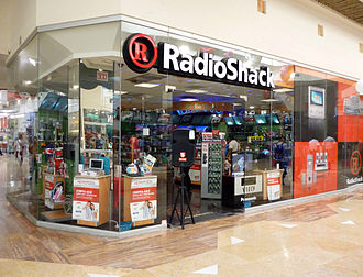 RadioShack - The exterior of a RadioShack store in a shopping mall in Puerto Vallarta, Mexico (2005).