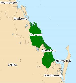 Electoral district of Burnett - 2008 Burnett Electoral boundaries