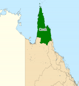 Electoral district of Cook - Electoral map of Cook 2008