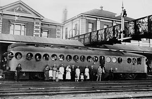 Toowoomba railway station - Overbridge at Toowoomba railway station, circa 1923