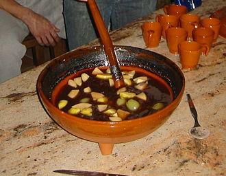 Queimada (drink) - Queimada in preparation process.