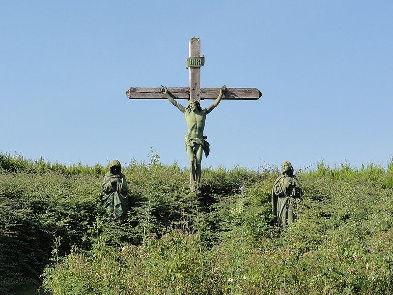 Récourt-le-Creux (Meuse) croix de chemin nord