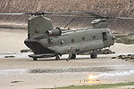 RAF Chinook on beach.JPG