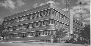 History of the Royal Melbourne Institute of Technology - Radio Communication Building in 1950