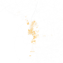 Map Of Racial Distribution In Laredo 2010 U S Census Each Dot Is 25 People White Black Asian Hispanic Or Other Yellow