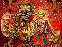 Altare vaishnava di Radha Syamasundara, a Vrindavan