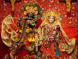 Krishna Balaram Mandir - Radha Syamasundar at the temple on Radhastami