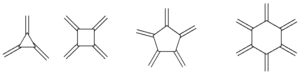 Radialene - the first four radialenes