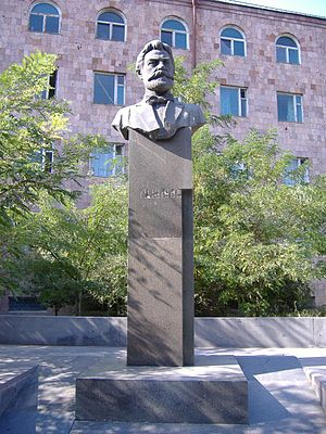 Raffi (novelist) - Monument to Raffi in Yerevan
