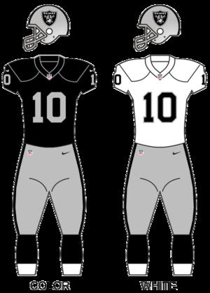 2017 Oakland Raiders season - Image: Raiders uniform update 1 03 2017