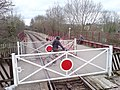 Railway Crossing at the end of Bitton Station - geograph.org.uk - 1755331.jpg