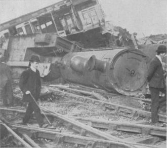 Shrewsbury rail accident - From The Sphere, 19 October 1907