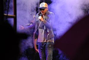 Rain (entertainer) - Rain performs at a K-pop concert at Kunsan Air Base in September 2012