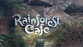 Rainforest Cafe - The logo of the Rainforest Cafe at Disney's Animal Kingdom.