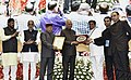 """Ram Nath Kovind presenting the """"Vayoshreshtha Sammans - 2017"""" to eminent senior citizens and institutions in recognition of their service towards the cause of the elderly persons, at a function, in New Delhi (1).jpg"""