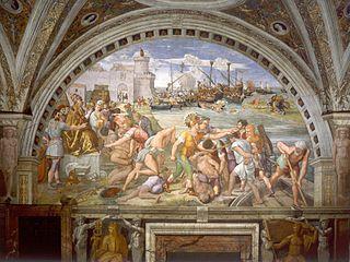 <i>Battle of Ostia</i> (Raphaels painting)