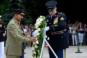 Rashad Mahmood - Rashad Mahmood Kaira lays a wreath at the Tomb of the Unknowns in 2014