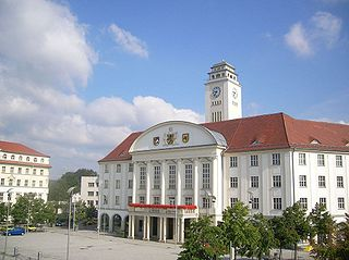 Sonneberg Place in Thuringia, Germany