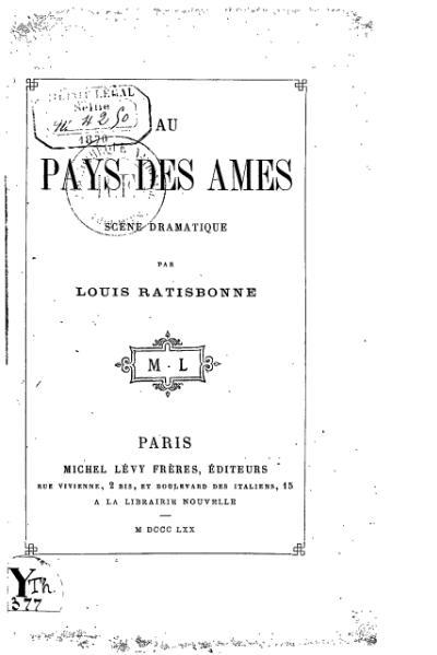 File:Ratisbonne - Au pays des âmes, 1870.djvu