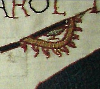 Raven banner - Detail of a raven banner from the Bayeux tapestry.