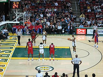 Ray Allen - Allen prepares to shoot a free throw in 2007