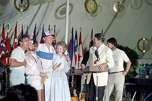 Ronald Reagan in music - The Beach Boys with Ronald and Nancy Reagan, 1983.