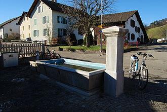 Rebeuvelier - Fountain in Rebeuvelier village