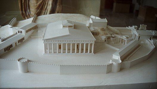 Reconstruction of sacred area, Roman age, AM Eleusis, Elem171.jpg