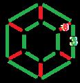 Rectified order-6 hexagonal tiling honeycomb verf.png