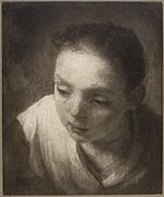Rembrandt - Head of a Girl, Study for Holy Family with Angels.jpg