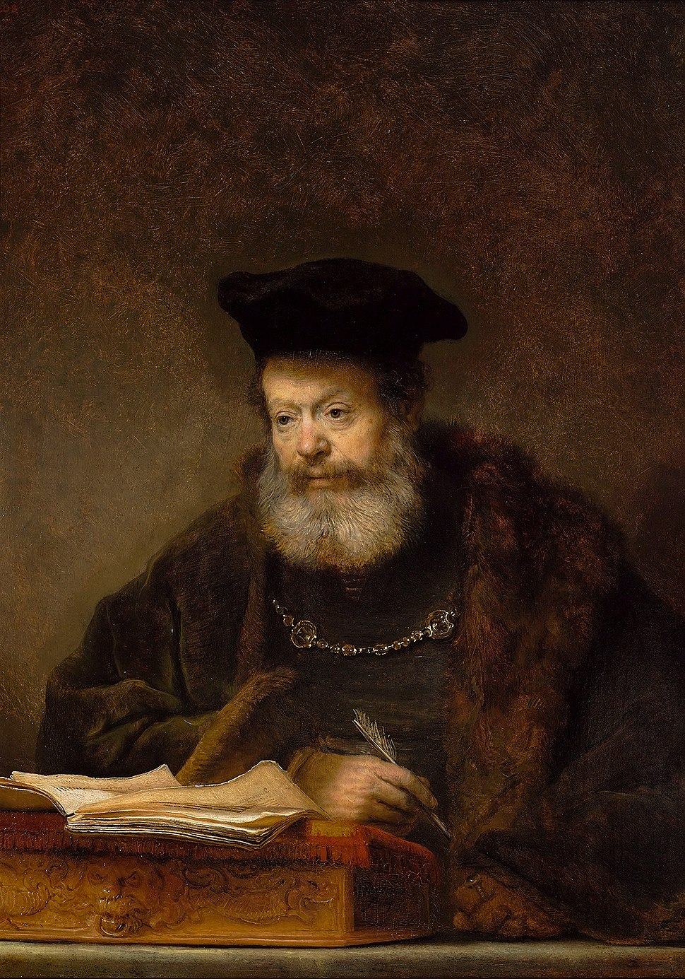 Rembrandt Scholar at the Lectern
