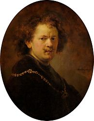 Rembrandt: Self-portrait Bare-headed with Gold Chain