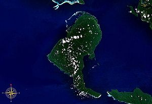Rendova Island - Rendova Island seen from space