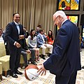 Reuven Rivlin meeting with a delegation of leading personalities from the NBA, August 2017 (6556).jpg
