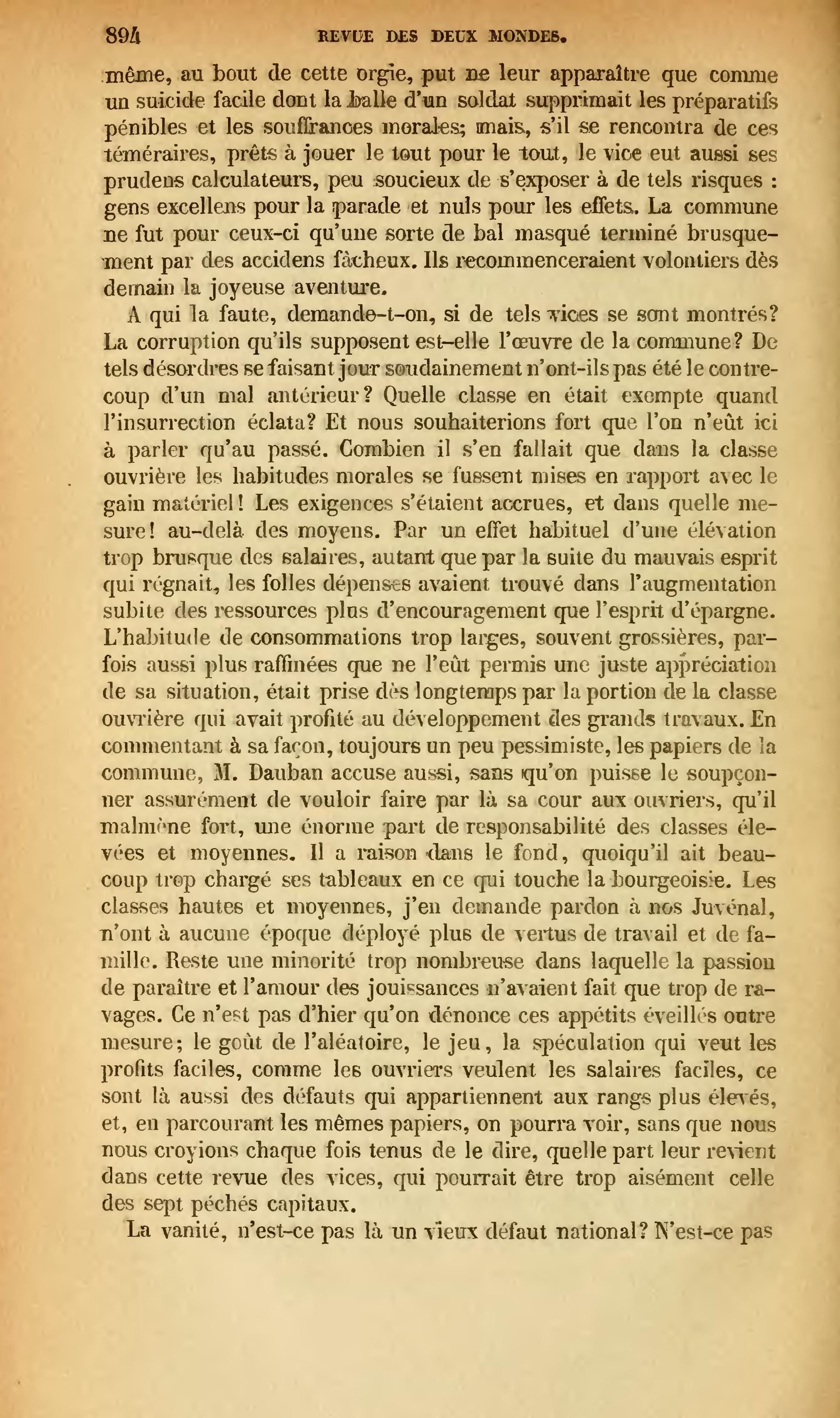Page revue des deux mondes 1874 tome - Vanite des vanites tout n est que vanite ...
