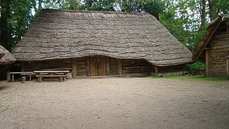 Lusatian culture - Reconstruction of a Lusatian culture house