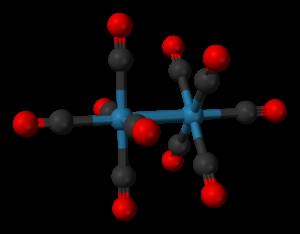Dirhenium decacarbonyl - Image: Rhenium carbonyl 3D balls