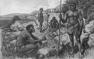 "Homo rhodesiensis - Interpretation of ""Rhodesian Men"" by Amédée Forestier (1922)"