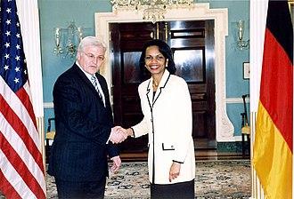 Frank-Walter Steinmeier - Steinmeier with Condoleezza Rice
