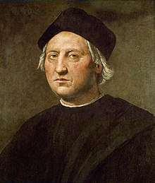 A painting of Christopher Columbus.
