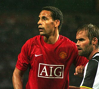 Rio Ferdinand - Ferdinand with Olof Mellberg in a match against Juventus in 2008