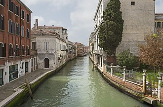 Venice - Venice view from the Bridge Foscari, to the Bridge Santa Margherita