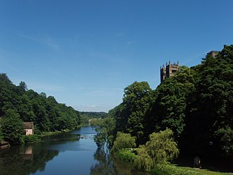 River Wear - The wooded riverbanks of the Wear as it flows through Durham.